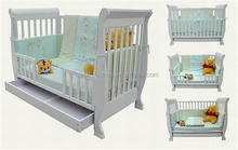 AS/NZS 2172 wooden classic 3 in 1 adult baby crib and sofa