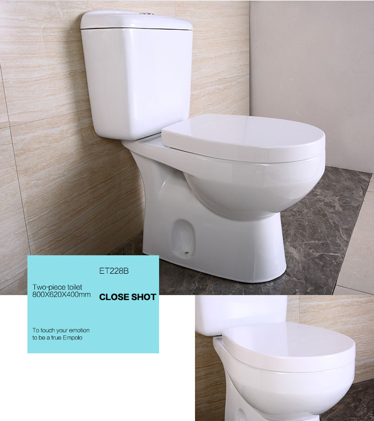 ET228B Bathroom best price ceramic wc two-piece toilet
