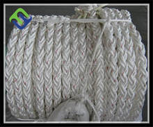 88 mm pp braided marine rope for ship