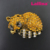 Rhinestone sleeping cute baby fox Pin brooch animal jewelry broach