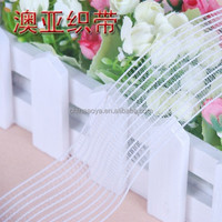 transparent knitted fish line mesh elastic fish silk webbing for garment
