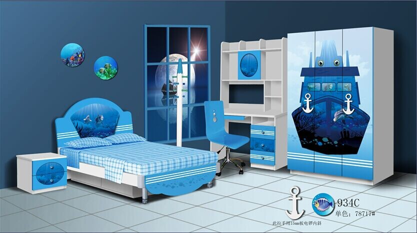 2015 hulubao new design 934C MDF eco-friendly,high-tech children bedroom,kids bedroom furniture