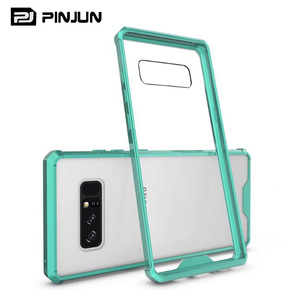 High Quality slim armor tpu acrylic transparent 2 in 1 hybrid protective case for samsung note 8 phone case
