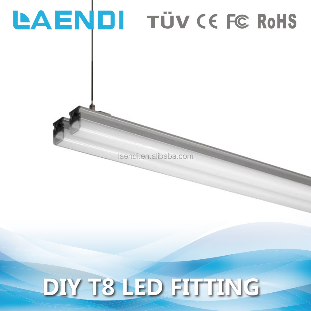isolated new design double tube light fitting t8 150cm 40w
