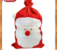 Christmas Gift Use Fashion String Tied Durable Cotton Drawstring gift Bag