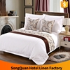 stripe satin white hotel ribbon work bed sheets designs
