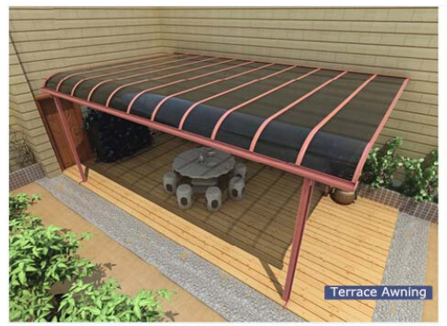 aluminium terrasse auvent avec polycarbonate toit auvents id de produit 60251661696 french. Black Bedroom Furniture Sets. Home Design Ideas