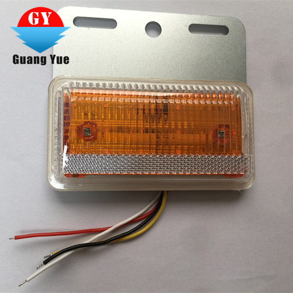 Newest waterproof IP68 LED TRUCK SIDE LAMP yellow/red/blue/white/green