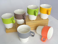 stackable ceramic coffee mugs