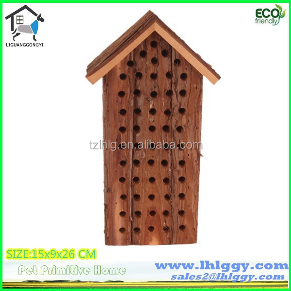 Firwood natural wood bee nest / box / hotel / shelter made in China