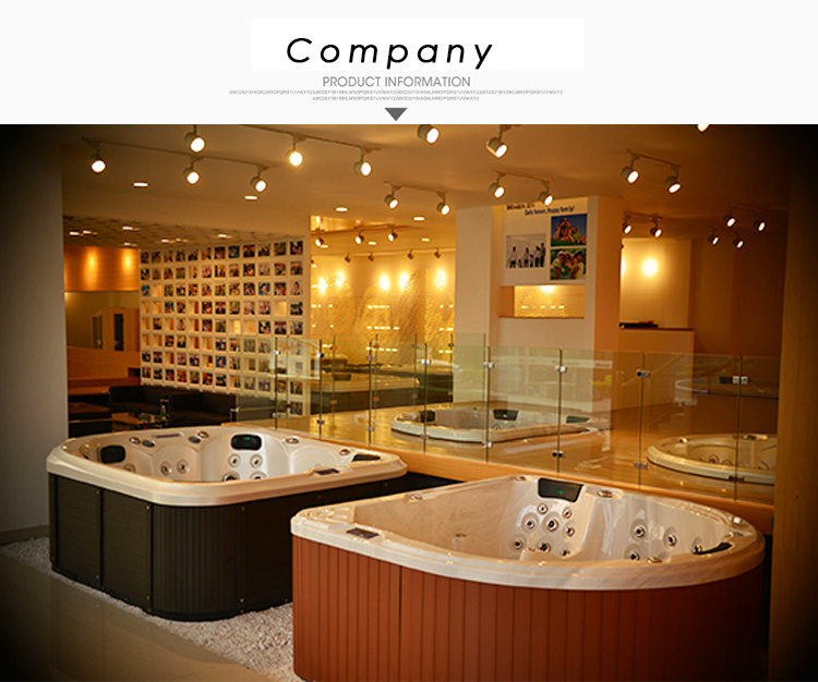 2017 hot sales bathtub hottub acrylic with massage 3 person