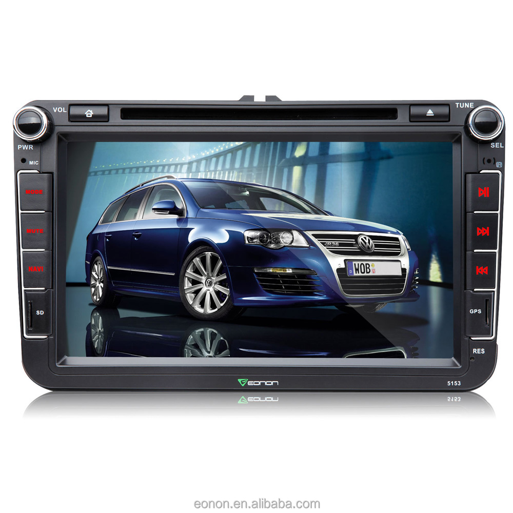 "EONON D5153V 8"" Digital Touch Screen Car DVD Player with Built-in GPS For Volkswagen/SKODA/SEAT"