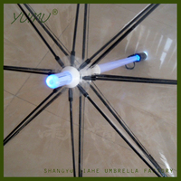 Clear Umbrella with Led Light Glow in Rain, Transparent Lightsabre Umbrellas