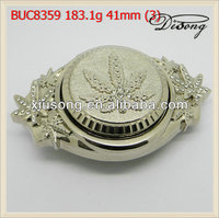 Fashion shiny silver custom made western belt buckle manufacturer