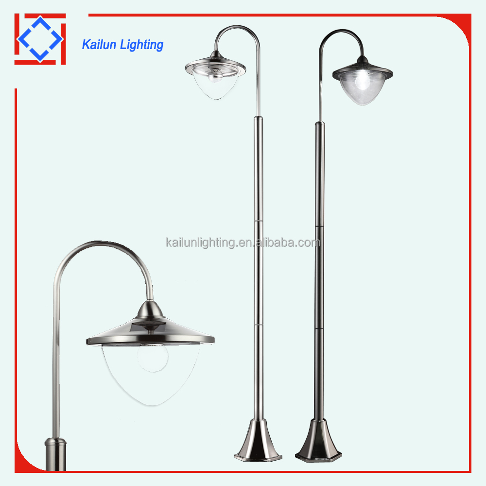 1.7 meters circular stainless steel solar garden light