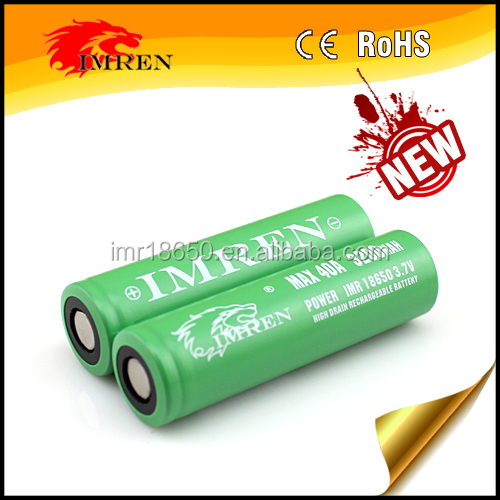 3200 40a IMREN 18650 3200mah 40a Li-Mn battery,imren 18650 40a battery,imren 40 amp 18650 for flashlight E-cig/Vaping cuboid Mod