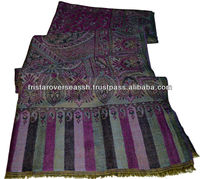 Pastel color combination pure pashmina shawls in long length