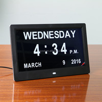 2016 warm hearted directly supply electric calendar clock with latest popular design