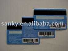 Credit card size barcode & signature panel magnetic strip membership card