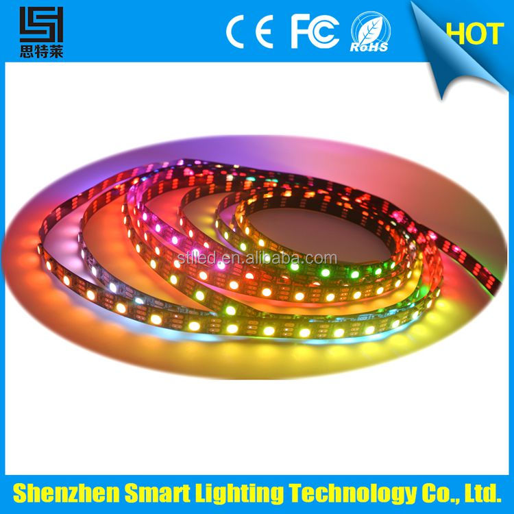 Global trade starts here 14.4w sk6812 digital addressable rgbw led strip with black pcb