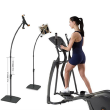 Adjustable Tablet Floor Stand Holder For iPad compliant with treadmill, used for gym