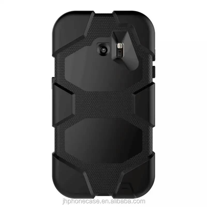 Military duty anti-shock waterproof silicone cover for Galaxy S7, Rotate clip rubber bumper case for S7