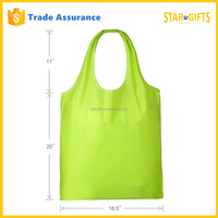 Custom Eco Friendly Reusable Foldable Shopping Bag In Light Cyan