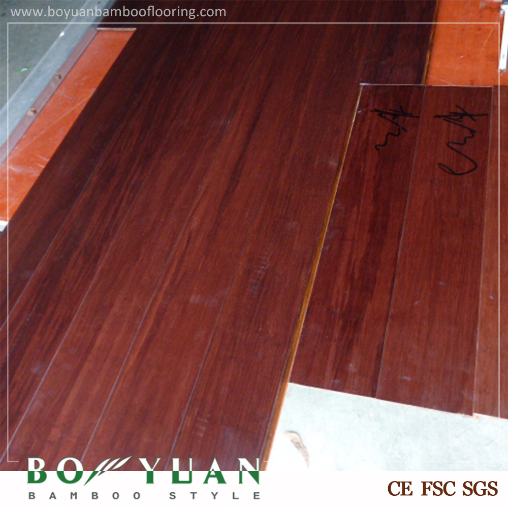 Hot Sale Strand Bamboo Flooring Brushed Smoke Color Click Locked Bamboo Flooring
