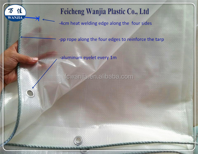 greenhouse and cherry cover transparent PE fabric clear PE tarpaulin