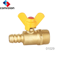 male thread hose connector brass gas valve for gas heater