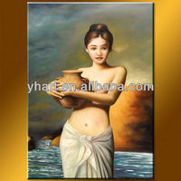 Wholesale classical woman painting oil