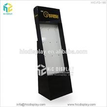 Foldable cardboard hook cell phone accessory display rack