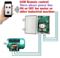 GSM industrial three phase power switch remote controller for motor ,water pump, generator