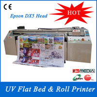 2016 Good Price LED Flatbed and Roll to Roll UV Printer