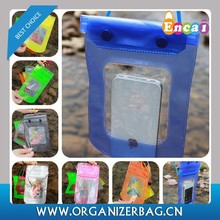 Encai Fashion Cellphone Waterproof Pouch For Swimming Transparent PVC Neck Bag For Mobilephone