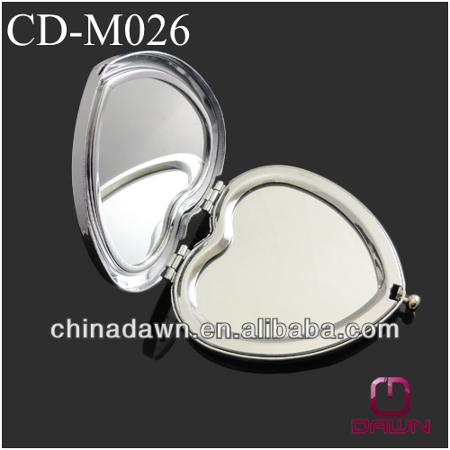 Valentine's day gift Heart compact mirror with two side mirror CD-M026