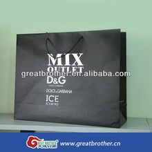 china supplier hot stamping recycle Shopping Paper Bag for garment