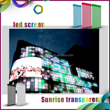 Media led panel P31.25/ P15.625mm transparent led media facade advertising led display