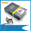 Black Home Security Dictionary Book Safe Storage Key Lock Box for Cash Jewelry