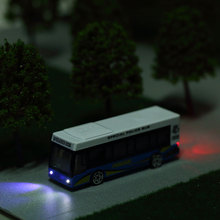 1:120 1:150 scale model bus with 12 vlot lights for modelling