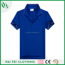 2016 Guangzhou Haifei Latest Design Casual Summer 220g 65% Polyester 35% polyester Short Sleeve Alibaba China Clothing