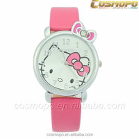 new leather watches ladies watches with hello kitty pattern