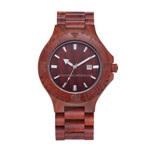 2016 natural rose wood watch red sandalwood vogue wrist wood watch for men