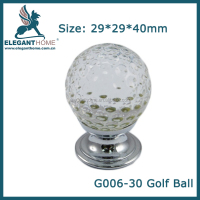Colorful and beautiful Golf ball design glass door knobs, Kitchen cabinet knob, Furniture hardware