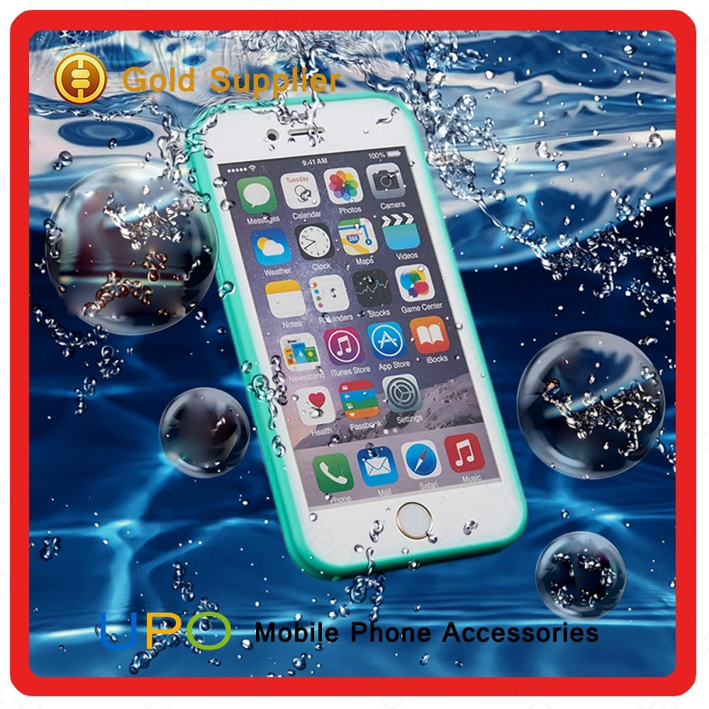 [UPO] Hot Selling Ultra Thin Full Covered Soft TPU 360 Front and Back Waterproof Phone Case for iPhone 6