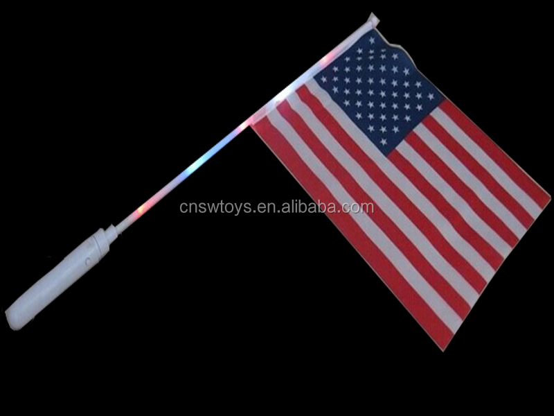 DD0714725 Light up hand flags stick custom flag flashing
