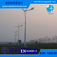 10kw AC motor electric wind generators fan with FRP blades adjust pitch angles