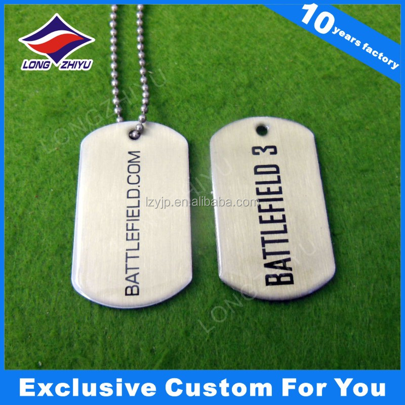 aluminum custom logo dog tags for cheap anodized aluminum dog tag couple military dog tags
