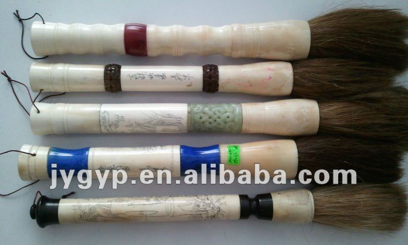 ox bone carving decorative chinese calligraphy brushes