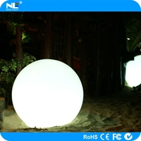 Waterproof plastic LED light up glowing balls / eye-catiching color flashing LED magic ball